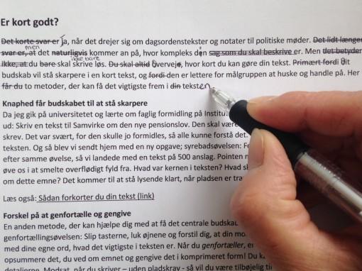 Forkort din tekst